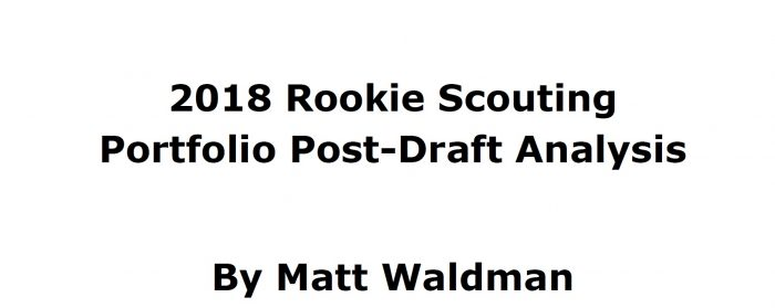 Matt Waldman's 2018 RSP Post-Draft Is Ready For Download!